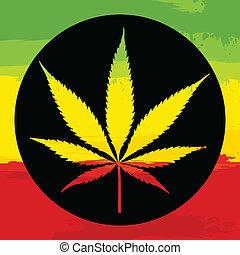 hoja de la marijuana, illustreation