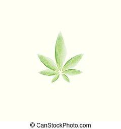 hoja de la marijuana, vector, ilustración