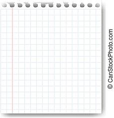 hoja de papel, blanco, plano de fondo