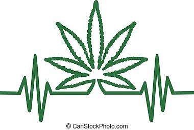 hoja del cáñamo, marijuana, frequence