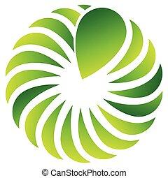 hoja, naturaleza, forma, ecológico, conceptos, concéntrico