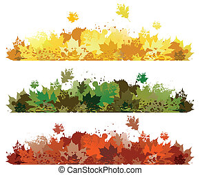 hoja otoño, diseño