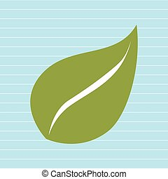 hoja, planta, natural, hoja