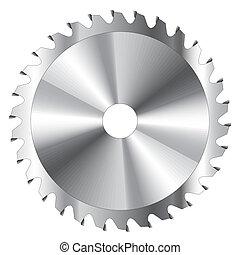 hoja, sierra, circular
