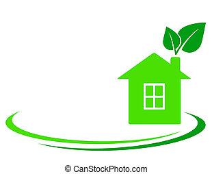 hoja verde, casa