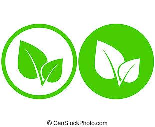 hoja verde, iconos