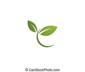hoja verde, logotipo