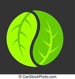hoja, yang de yin, logotipo