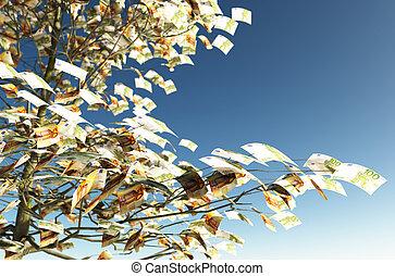hojas, 50, instead, 100, cuentas, euro