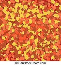 hojas caídas, otoño, plano de fondo