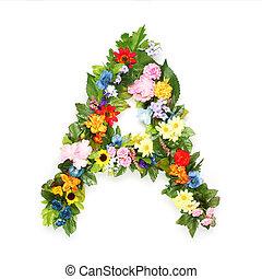 hojas, hecho, Cartas, flores
