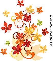 hojas, otoñal