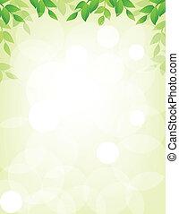 hojas, plano de fondo