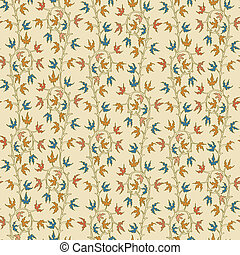 hojas, seamless, amarillo, hiedra, fondo., progresivo