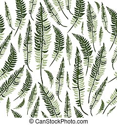hojas, verde, helecho