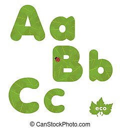 hojas verdes, font.