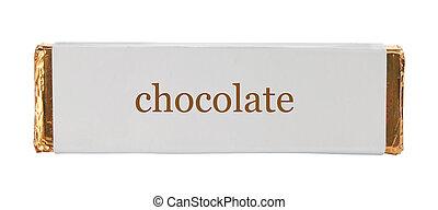 hojuela, papel, envoltura, aluminio, chocolate