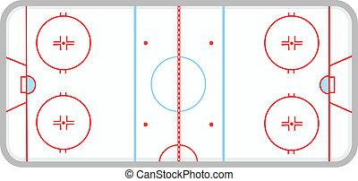 hokej, ślizgawka, lód