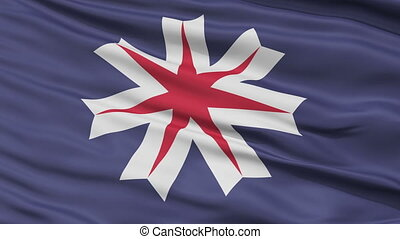 Hokkaido Prefecture Close Up Flag - Flag of Hokkaido...