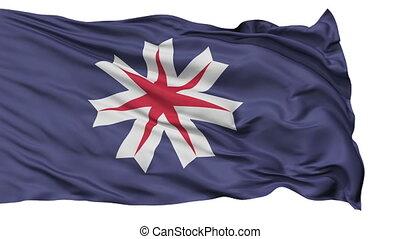 Hokkaido Prefecture Isolated Flag