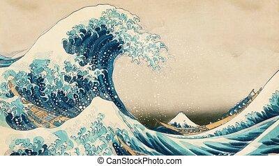The Great Wave Of Kanagawa - Hokusai The Great Wave Of ...