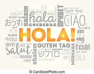 Hola hello greeting in spanish word cloud in different languages hello greeting in spanish word cloud m4hsunfo