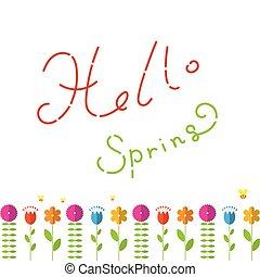 hola, primavera, concepto