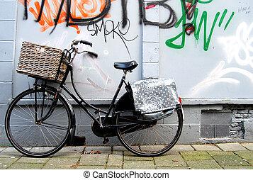 holandés, bicicleta