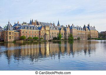 holandés, parlamento, haag de madriguera, países bajos