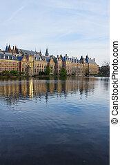 holandês, parlamento, haag esconderijo, países baixos