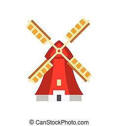 Holandaise Windmill Simplified Icon - Holandaise Windmill ...