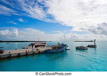 Holbox island port in Quintana Roo Mexico - Holbox island...