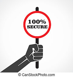 hold 100% secure word banner