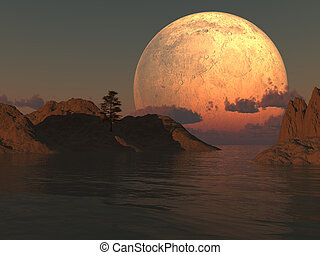 hold, sziget tó
