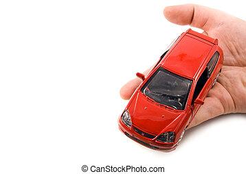 holde, automobilen, ind, den, hænder