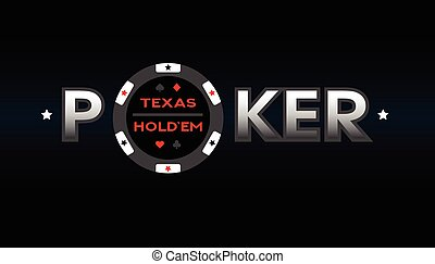 holdem, vector, illustration., tejas, póker