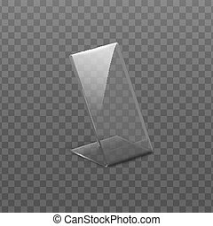 Holder for cards or table menu realistic vector mockup ...