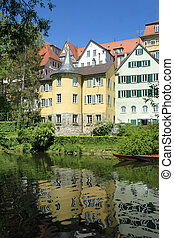 Holderlin Tower, Tubingen, Germany - The tower where the...