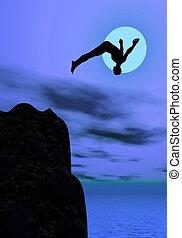 holdfény, merülés, -, 3, render