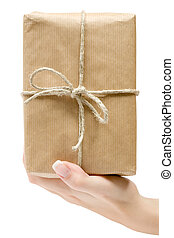 Holding a Brown Parcel