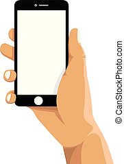 holding a cell mobile phone