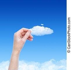 Holding A Cloud Concept