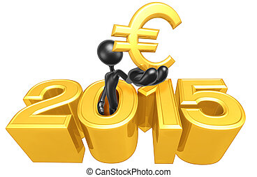 Holding A Euro Symbol In The Year