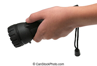 holding a flashlight - holding a flashligt