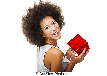 Holding a gift