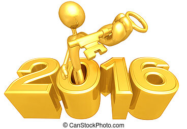 Holding A Gold Key In The Year
