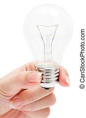 Holding a Light Bulb