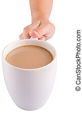 Holding a Mug Of Coffee
