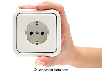 Holding a Power Outlet