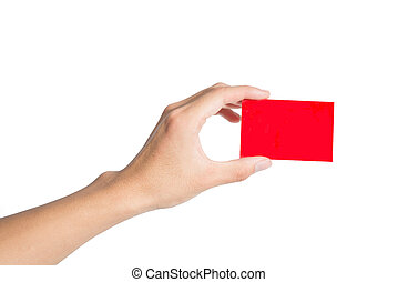 Holding a red card